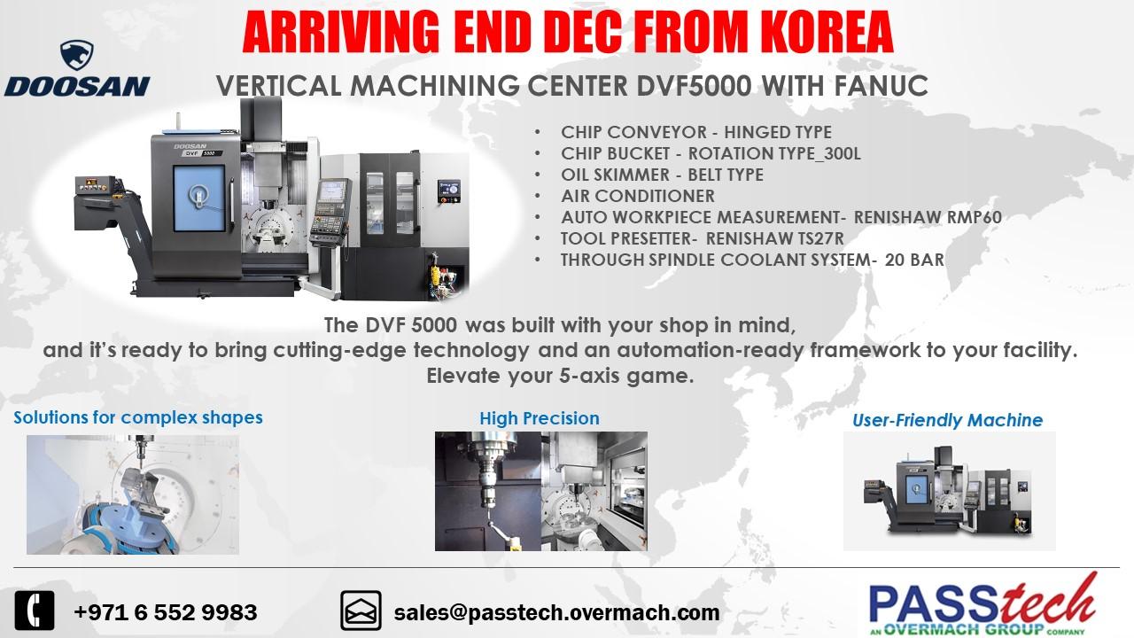 STOCK MACHINE - VMC DVF5000-END DEC